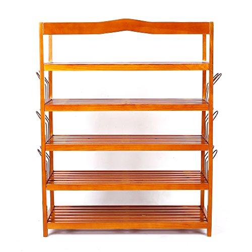 Homfa zapatero de madera mueble zapatero 5 estanter as for Mueble zapatero 30 pares