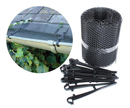 Preisvergleich Produktbild Dachrinnenschutz/Dachrinnengitter 6 m, Breite 16 cm, inkl. 16 Haken