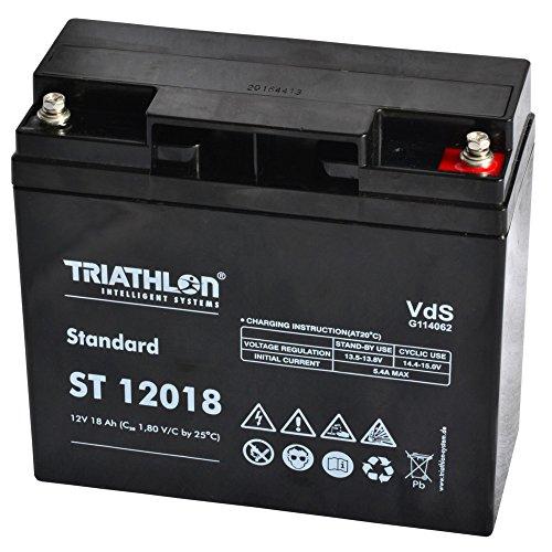 Preisvergleich Produktbild Triathlon Akku 18Ah 12V AGM Blei Vlies Geräte Batterie Rasenmäher Elektro Fahrzeug Fahrrad Scooter USV 12Volt