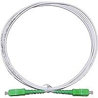 Câble Fibre Optique Orange SFR Bouygues Connecteurs SC/APC a SC/APC Jarretière Optique pour Orange Live Box (jaune, 5M)