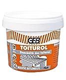 GEB - Toiturol Pâte à base de dérivés bitumeux pour l'étanchéité des toitures Boîte 400 g