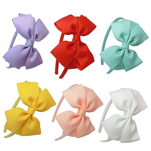 hleife Headbands für Mädchen Schleife Haar Hoop Haarband (unterschiedliche Farbe) (Rot, Weiß, Blau, Haar-bögen)