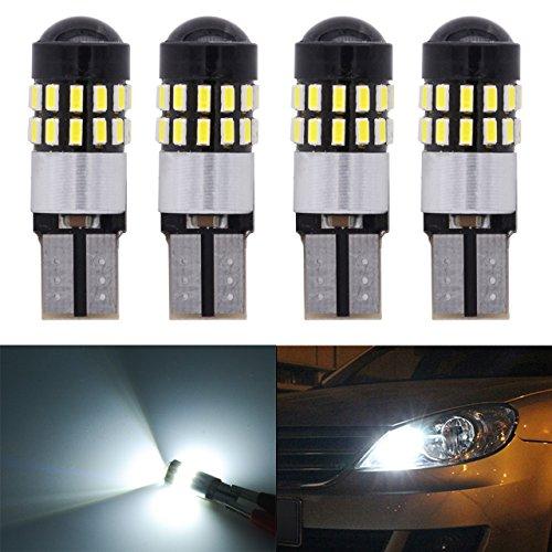 KaTur T10 168 175 194 2825 W5W Ampoules LED CanBus 3014 30SMD Lentille DC 12V Dôme de Carte intérieure avec courtoisie, Feux de Position latéraux de Plaque d'immatriculation, Blanc xénon, 2,7 W