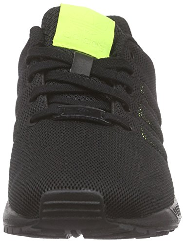 adidas Unisex-Kinder Zx Flux K Low-Top, Schwarz/Rosa Schwarz (Core Black/Solar Yellow/Solar Yellow)