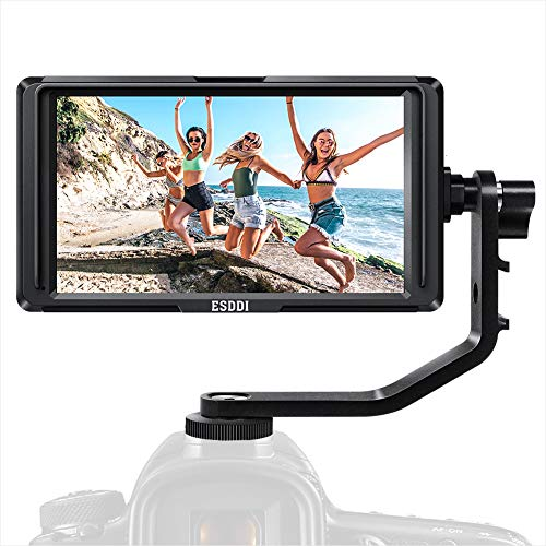 Camera Field Monitor ESDDI F5 5 pollici Full HD IPS Monitor Video da Esterno con supporto 4K Input 1920x1080 Ricaricabile con Batteria agli Ioni di