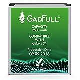 GadFull Batería para Samsung Galaxy S4 | Fecha de fabricación del 2018 | Corresponde al Original EB-B600BE | Modelo de Smartphone Galaxy S4 i9500 | LTE i9505 batería de Repuesto