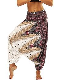 88001ac8c8 Lvguang Pantalones De Estilo Hippie De Los Mujer De La Vendimia del Estilo  Nacional Pantalones Holgados