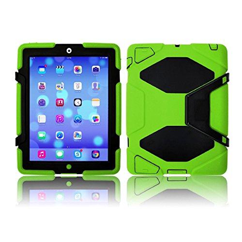 New Multi Angel Silikon/Kunststoff Schutz/Dual Layer Shock/Stoßdämpfender kid-proof Fall wasserdicht stoßfest Schmutz Schnee Sand Proof Survivor Extreme Army Military Heavy Duty Prime Qualität Cover Case Ständer für Apple iPad 2/3/4(Modell: A1395/A1396/A1397/A1416/A1430/A1403/A1416/A1430/A1403) Kinder Geschenk Apple iPad 2(Modell: A1395/A1396/A1397)/iPad 3(Modell A1416/A1430/A1403)/iPad 4(Modell: A1458/A1459/A1460) @ SK Micro®–Super Versand aus UK grün