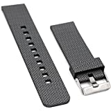 Woodln Silicone Remplacement Bande de Bracelet Pour Pebble Time/ Pebble Time Steel / Asus Zenwatch 1st 2nd / Moto 360 2nd Men's 46mm / G Watch R / LG Watch Urbane / Gear 2 R380 Smart Watch Strap (Black Cross)