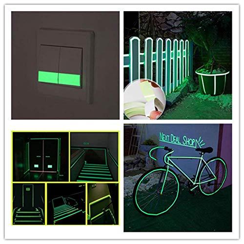 BOOMING im Dunkeln leuchten Sicherheitsband Selbstklebendes Leuchtleuchtband für Treppen, Bühnen, Zuhause, Wände, Marker, Wasserdichte Maskierung, Gaffer und Notfallbandgröße (3M × 20MM)