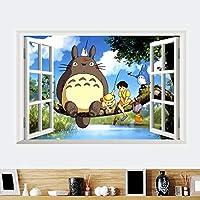 Miyazaki Komşum Totoro Bebek ve Çocuk Odası Duvar Dekorasyonu Anime PVC Duvar Sticker Çıkartma