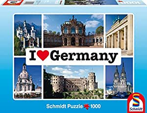 Schmidt Spiele 59280 - I love Germany, 1000 Teile Puzzle