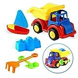 Bramble Set di 6 camion da costruzione - Giocattolo perfetto da portare in spiaggia, al parco o al giardino