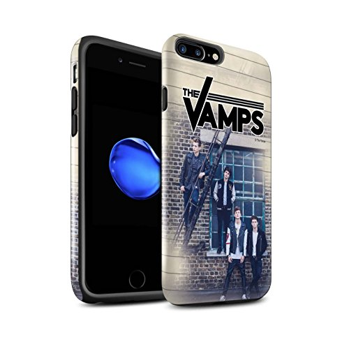 Offiziell The Vamps Hülle / Glanz Harten Stoßfest Case für Apple iPhone 7 Plus / Holz-Effekt Muster / The Vamps Fotoshoot Kollektion Tagebuch