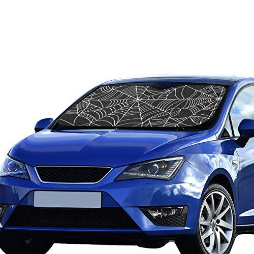 Shade Halloween Spinnennetzmuster Faltbare Sonnenblende für maximalen UV- und Sonnenschutz Halten Sie Ihr Fahrzeug kühl 140 x 75 cm (55 x 30 Zoll) Car Kids Sun Shade ()