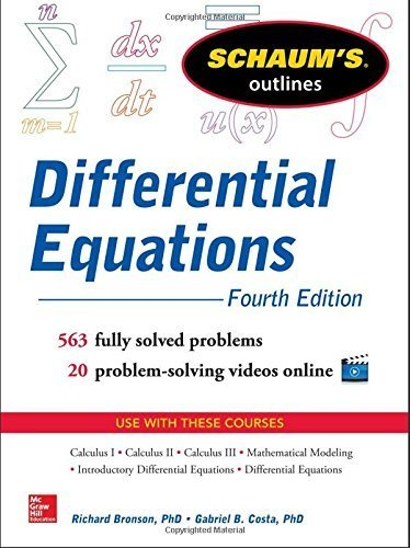 Schaum's Outline of Differential Equations, 4th Edition (Schaum's Outline Series) 4th by Bronson, Richard, Costa, Gabriel (2014) Paperback