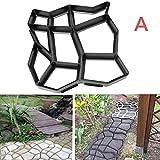 Picturer7Kunststoff Path Maker Form, 43,5x 43,5cm manuell Pflastersteine Zement Brick Stone Road DIY Form Garten Terrasse Auffahrt Pathmate Pflaster Form Terrasse Weg Walk Maker
