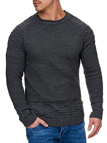 TAZZIO Herren Styler Strick-Pullover 16479 Anthrazit