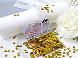14g Streudeko Konfetti Herz klein gold metallisch Tischdeko Hochzeit
