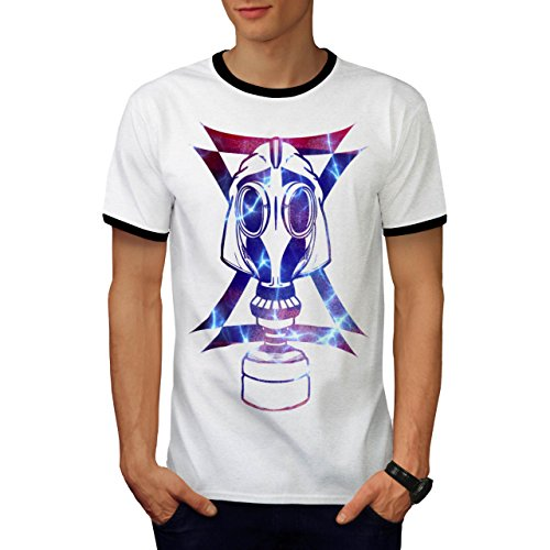 Gas Maske Abstrakt Mode Verkleidung Gesicht Herren M Ringer T-shirt | Wellcoda (Billig Gas Maske)