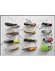 Lot de 12mouches de pêche en mousse