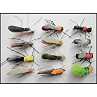 Foam Fishing Flies, 12 Pack for Carp or Large Trout, Mixed Varieties, Size 8