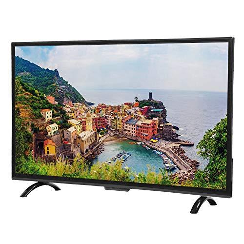 Focket Gebogener Fernseher, 32-Zoll-3000R-Krümmung, HD-Großbild-Smart-Curved-TV-Unterstützung, VGA, Kopfhörerschnittstelle, USB, AV, HDMI, RF für Zuhause/Büro(EU)