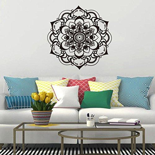 er Wand Aufkleber,Mandala Blume Indische Schlafzimmer Wohnzimmer Wandaufkleber Aufkleber Kunst Mural Home (BK) (Halloween-papier-maske-muster)