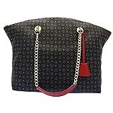 Pollini TE8408PP02Q1100B Shopper Donna Sintetico NERO/ ROSSO NERO/ ROSSO TU