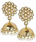 Bollywood Indian Pearl Jhumki Earrings W...