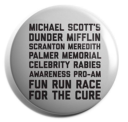 Hippowarehouse Michael scott's dunder mifflin scranton meredith palmer memorial celebrity rabies awareness Badge Pin 25mm 38mm 50mm