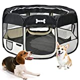 Portable Puppy Playpen Pet Pen for Dogs, Cats, Rabbits & Small Animals, 125 x