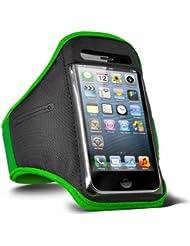 Fone-Case HTC One M7 verstellbaren Sport Fitness Jogging Arm Band Hülle (Grün)
