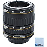 eCostConnection Auto Focus Macro Extension Tube Set for Nikon D300/D300S/D600/D700/D800/D800E/D3000/D3100/D3200/D5000/D5100/D5200/D5300/D7000/D7100 DSLR Camera