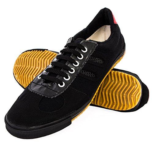 wu designs Shuang Xing - Kampfkunst - Wushu - Sport & Parkour Schuhe - Minimal Schuhe, schwarz, 42 (Martial-arts-training-schuh)