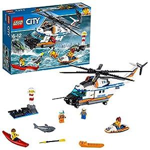 LEGO- City Elicottero della Guardia Costiera Costruzioni Piccole Gioco Bambina, Multicolore, 60166 8944766085654 LEGO