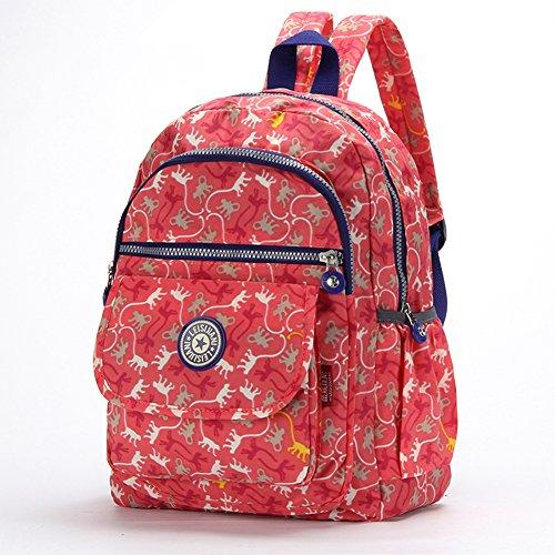 FORU BAG - Zaino leggero borsa impermeabile CLAS Seoul da donna per sport, escursionismo, ciclismo, 33cm, portatile per la scuola, palestra, campeggio, trekking, City Pack, donna, Macarons Stripe, M Orange