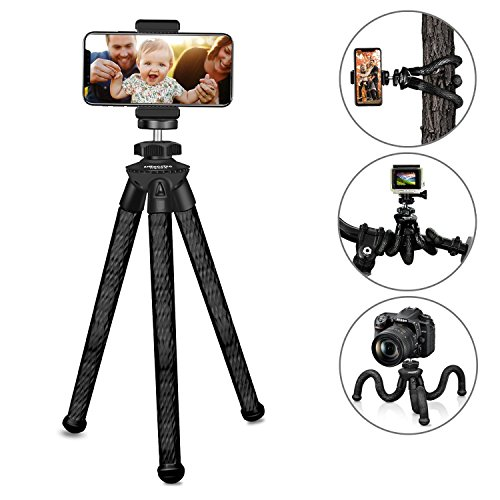 Camera tripod, Ubeesize Flexible iPhone Tripod Durable camera Tripod for Nikon Canon Sony Panasonic and iPhone/Samsung/Andriod Phones Tripod