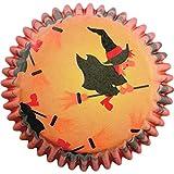 PME - Caissettes à Cupcakes en Papier à Motif de Vilaines Sorcières, Dimensions Standard, Lot de 60