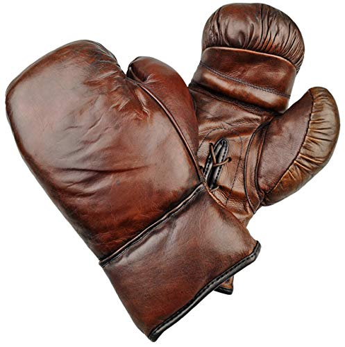 Bagger Vance Retro Leder Boxhandschuhe - Vintage Boxhandschuhe Leder