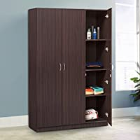 HomeTown Willy 3-Door Wardrobe (Walnut)