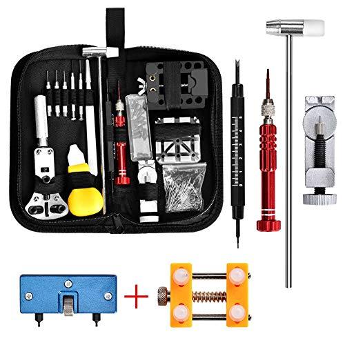 Uhrenwerkzeug Set Queta Uhren Reparatur Set, Uhr Werkzeug Tasche Watch Tools mit Uhren Decken Öffner Werkzeug Set Justierbar Öffner Werkzeug
