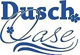 GRAZDesign 650223_40_052 Wandtattoo Dusch-Oase | Duschaufkleber für Glas -Wand und Fliesen | für Duschbereich und Badezimmer | Tür-Aufkleber WC (59x40cm//052 azurblau)