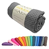 Yogabum klassische Kollektion Anti-Rutsch Yoga-Matte Yoga Handtucher (Slate Grey)