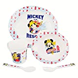 Mickey Mouse - Set Mikrowelle Baby 5 teilig to The Rescue, Mehrfarbig (Stor ST-44079)