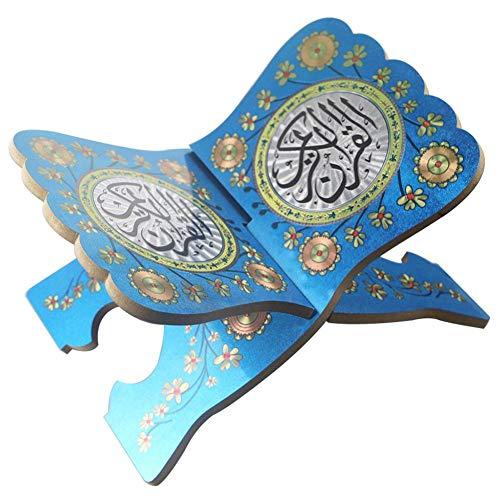iShine Kuran Ständer Koran Bücherregal aus Holz Ramadan Eid Mubarak Heilige Buch Ständer Eid al-Fitr für islamische Muslim-25.5cmx19cmx15cm