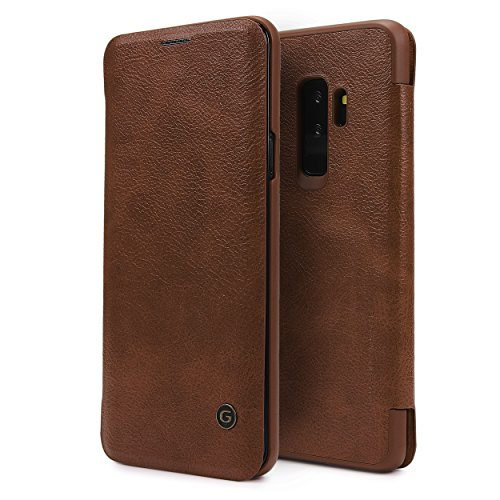 Urcover Galaxy S9 Plus Hülle, Wallet Business Series mit [ KARTENFACH ] Bookstyle Case Cover Schutzhülle Etui Klapphülle Handyhülle für Samsung Galaxy S9 Plus Braun (Klasse Card Wallet)
