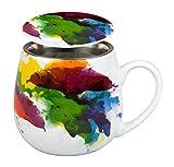 Könitz 1151431694 Tea for One Tasse, Porzellan, mehrfarbig, 13.2 x 8.2 x 9.7 cm
