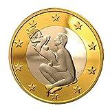 Colorful Sammlermünzen Gedenkmünze Sex Euro Münzen Mix Reine Goldmünzen Euro-Münzen (B)
