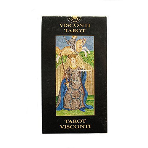 Visconti Sforza Tarot, 78 Cards Pocket Sized Deck with Multilingual Instructions by Green Cross Toad